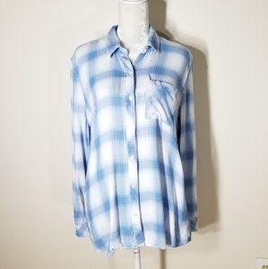 Gap | plaid rayon button down shirt